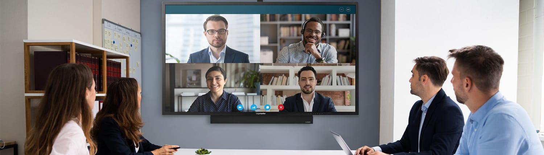 Videokonferenz mit einem non touch Display
