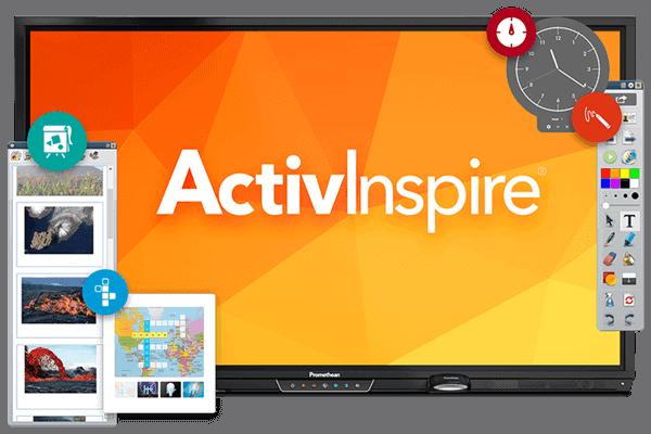 Digitale Tafellösungen - Display mit ActivInspire-Software von Promethean
