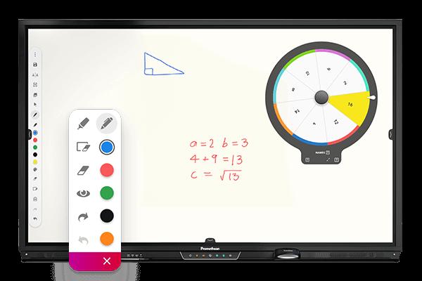 Digitale Tafellösungen - Ein AktivPanel von Promethean mit Funktionsansicht für den Matheunterricht