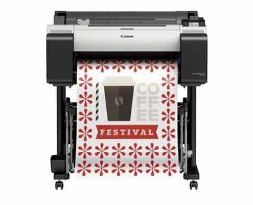 Large Format Printing - Produktbild des Großformatdruckers TM-200-Canon der gerade etwas ausdruckt