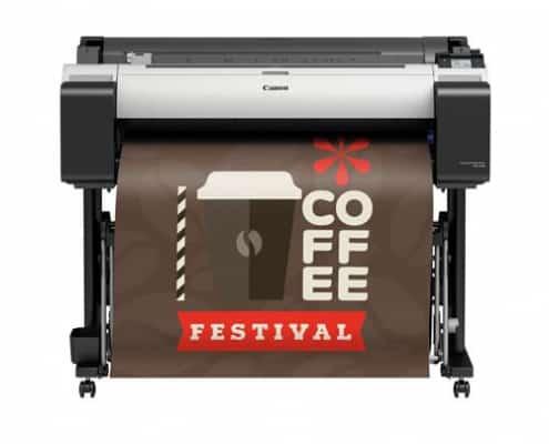 Large Format Printing - Produktbild des Großformatdruckers TM-300-Canon der gerade etwas ausdruckt