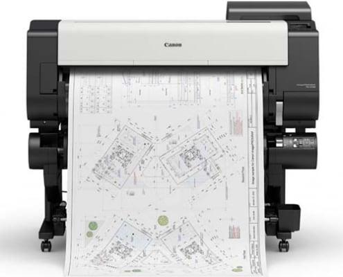 Large Format Printing - Produktbild des Großformatdruckers TX-3100 der gerade etwas druckt